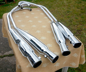 Exhaust Muffler Set 4-4 Honda CB500Four CB550K1 new Repro