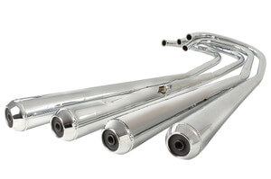 Exhaust Muffler Set Honda CB550K3 new Repro