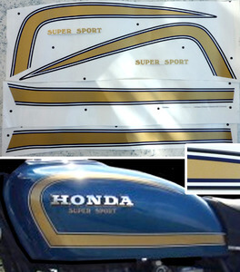 Tank Decor Honda CB550F2 Super Sport for blue paint