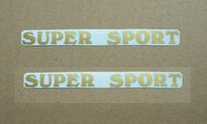 SUPER SPORT Tank Set gold Label Honda CB550F