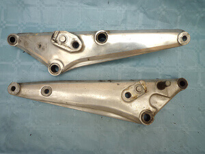 Set footpeg plates left-right CB750KZ RC01 used