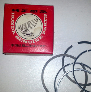 Piston Rings 0.50 Honda CB350F original new