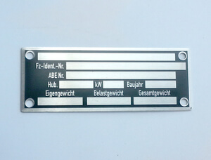 Nameplate Motorcycle 80x30mm