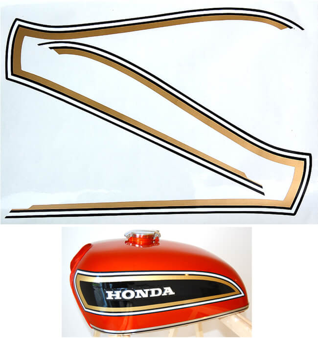 Cb Fourcom Tank Dekor Strips Honda Cb 750 K6 Cb 750 Four K0tok7